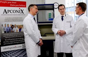 george osborne visits apconix, integrated ion channel discovery
